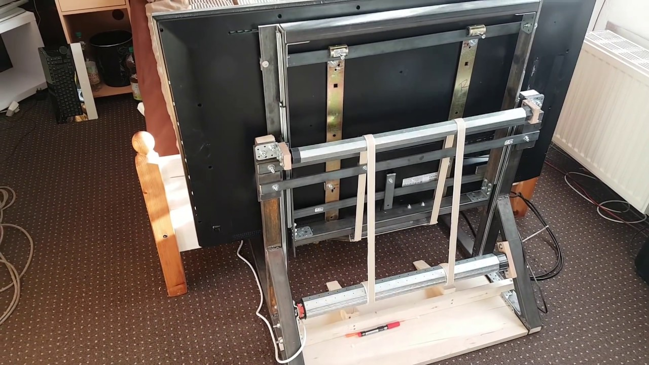 Eigenbau Tv Lift Diy Homemade Tv Lift Youtube