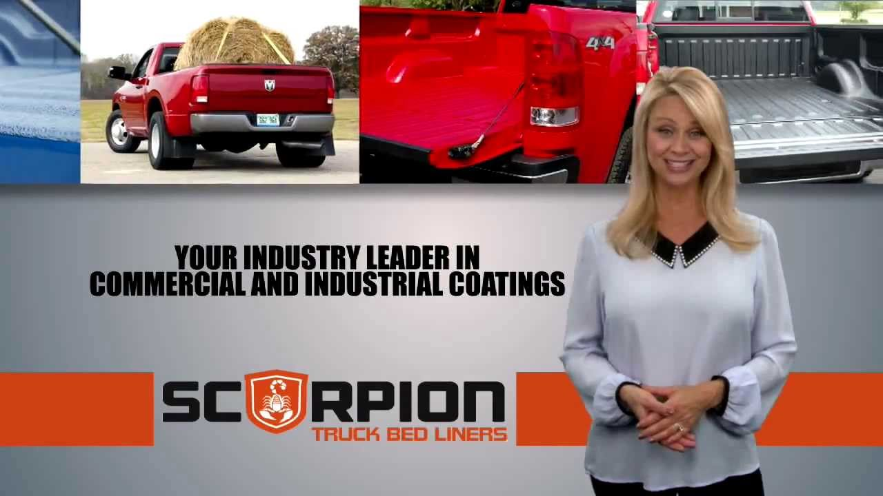 truck bed liner distributor - scorpion protective coatings - youtube