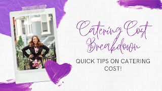 Wedding Catering Cost Breakdown
