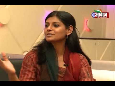 Nandita Das Interview at Awaaz india TV Office