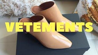 Vetements Lighter-heel leather mules Unboxing