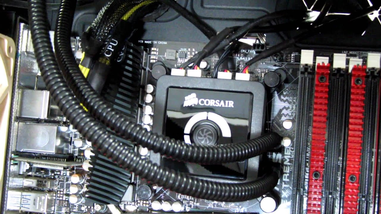 How To Install The Corsair H100 Liquid Cpu Cooler Youtube Fan Wiring