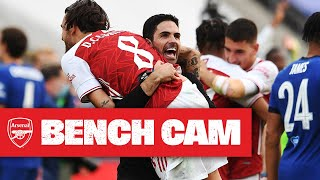 BENCH CAM | Arsenal 2-1 Chelsea | 2020 Emirates FA Cup winners!