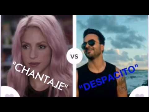 """CHANTAJE"" vs ""DESPACITO"""