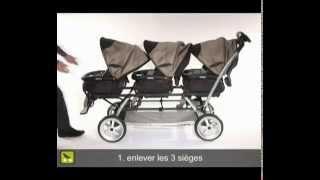 Обзор детской коляски для тройни Peg-Perego Triplette SW
