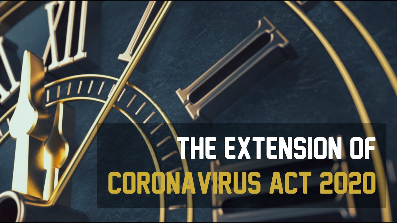 The Extension of Coronavirus Act 2020