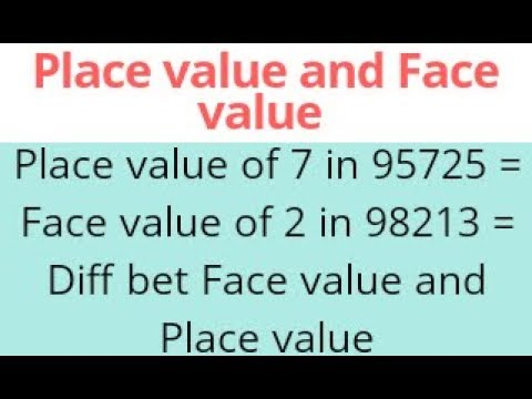 face value and place value of a digit ssc maths youtube. Black Bedroom Furniture Sets. Home Design Ideas