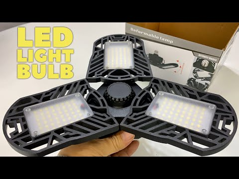 Super Bright 6000LM Deformable Garage Light With LED Panels Review