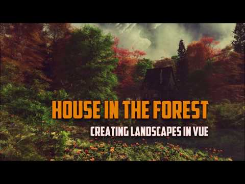 Landscapes in Vue. Creating house in the forest scene. Creating terrain part 1 thumbnail