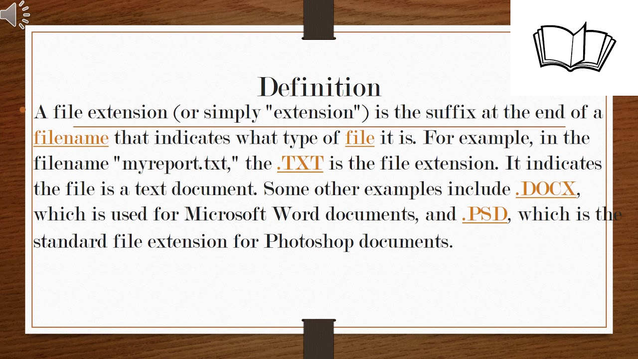 What is a file extension