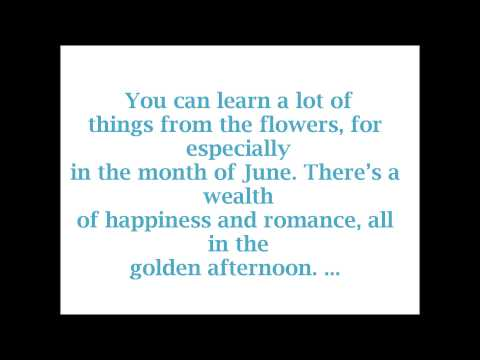 Alice in Wonderland- All in the Golden Afternoon (Lyrics)