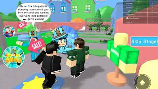 Escape the zombie pool OBBY-ROBLOX