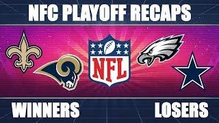Eagles vs. Saints & Cowboys vs. Rams: NFC Playoff RECAP