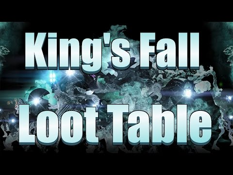 Destiny - King's Fall Loot Table/Rewards x3 (Will There Be Raid Consumables?)