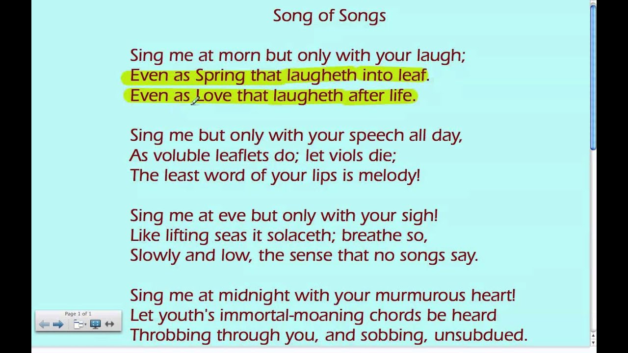 wilfred owen song of songs analysis wilfred owen song of songs analysis