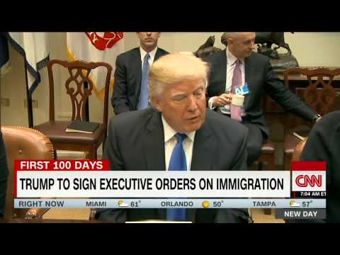 Donald Trump POTUS Signs Executive Action To Build USA / MEXICO WALL