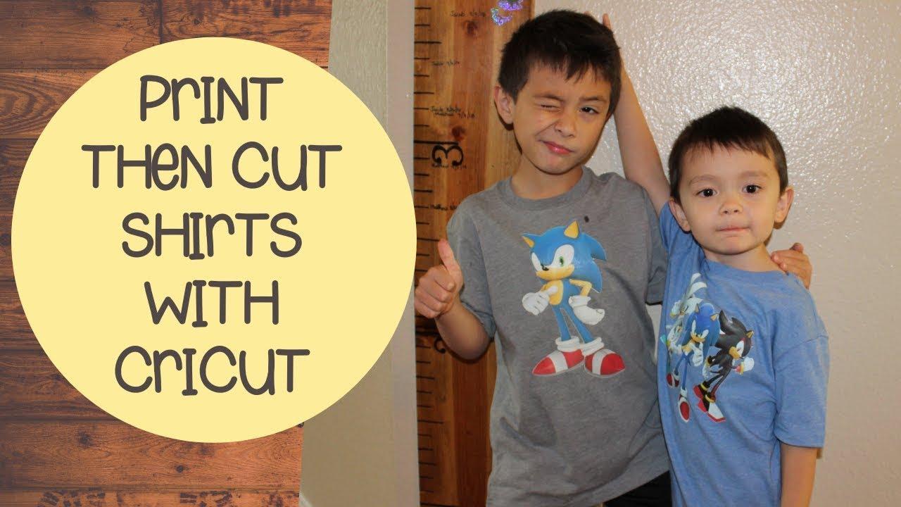 Print Then Cut Shirts With Cricut Printable Iron On