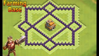 Clash of Clans - Town hall 7 Farming Base anti 3 star base (New Update) 2016