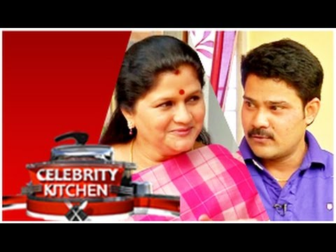 Anchors Nirmala Periyasamy & Mohan Raj In Celebrity Kitchen (07/12/2014)