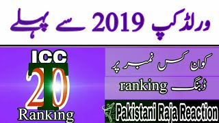 Before ICC World Cup 2019 announced ICC T20 Ranking Pakistani Reaction Cricket News may 2019