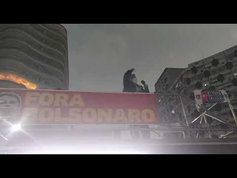 Ricardo Saraiva Big, neste #24JForaBolsonaro em Santos (SP)