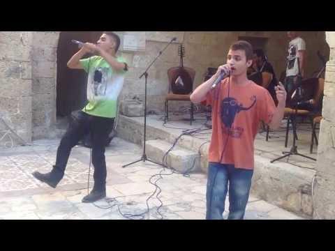Gaza rappers Revolution Makers perform