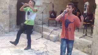 "Gaza rappers Revolution Makers perform ""I am still fighting"" at Palfest Gaza 2013"