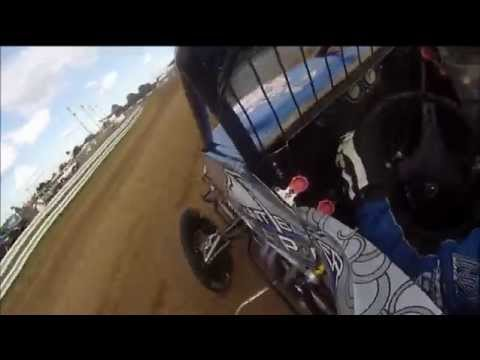 Sprint Car Hotlaps Around Terre Haute - In Car Footage