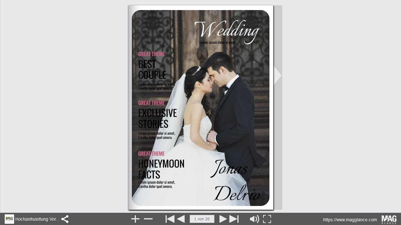 bltterbare vorlage fr eine hochzeitszeitung zum selber machen und drucken beispiel 1 youtube - Hochzeitszeitung Beispiele