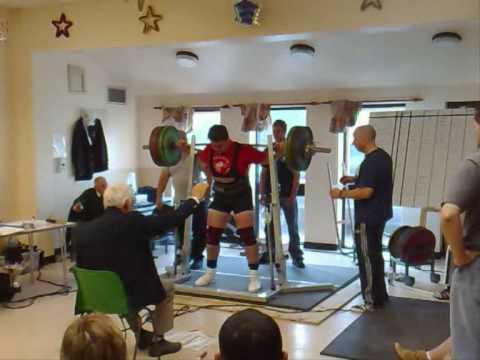 Tom Chantler 270kg 2nd squat  GBPF South Midlands 2009