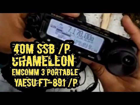 QRO Portable Yaesu FT-891 CHA EMCOMM 3P NVIS SSB Test on 40M