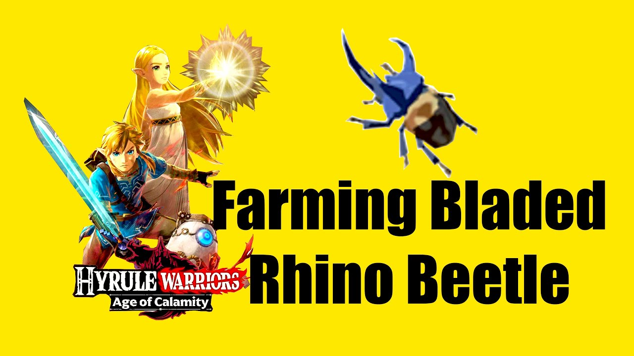 How To Farm Bladed Rhino Beetle In Hyrule Warriors Age Of Calamity Youtube
