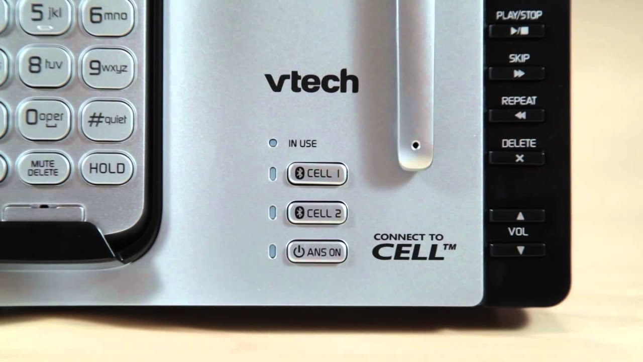 vtech ds6671 3 cordless phone system how to use the connect to cell features 1 youtube. Black Bedroom Furniture Sets. Home Design Ideas