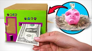 DIY Modern Piggy Bank For Cash And Coins