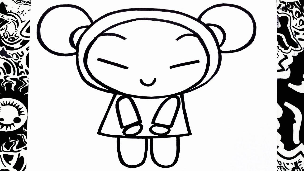 como dibujar a pucca | how to draw pucca - YouTube