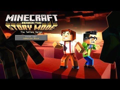 MINECRAFT Story Mode Episode 3: Jailhouse Block (SEASON 2) | All Cutscenes Game Movie