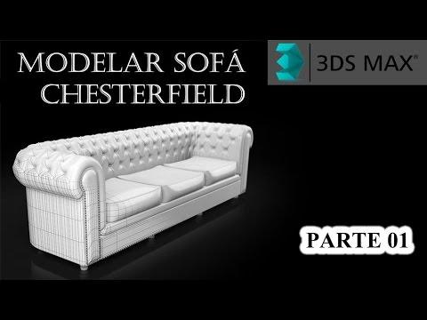 Tutorial 3ds Max | Modelar um sofá Chesterfield - Parte 01