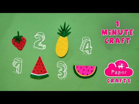 Easy Origami Paper FRUITS VEGGIE Crafts - Kid School Supplies Fun Project - 3D DIY Paper Crafts Idea