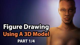 Figure Drawing Using a Poser 10 3D Human Model & Corel Painter  [Part 1/4]