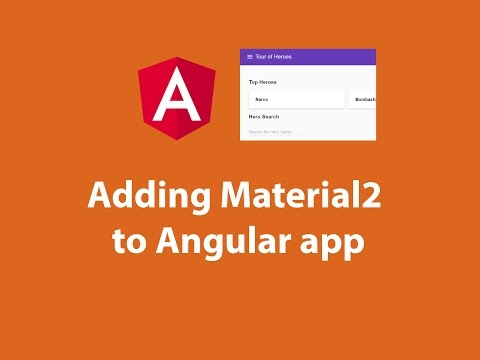 Adding Material2 to Angularapp