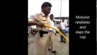 Mumbai traffic police assault motorist