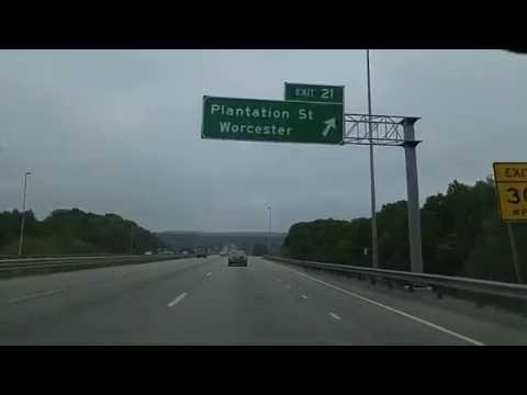 Driving from Worcester to Northboro,Massachusetts