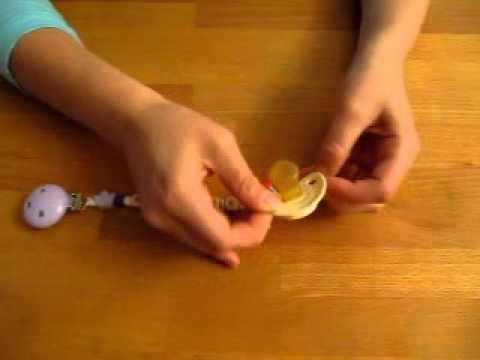 Schnuller an haba schnullerkette befestigen