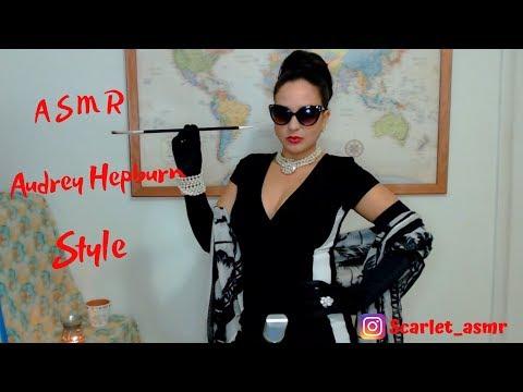 ASMR Audrey Hepburn Style 2 Scarves And Satin Gloves (Request)