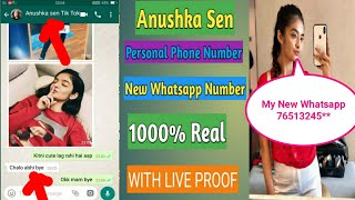 Real Phone Number Of Anushka Sen  2020 |Real Whatsapp Number  | Chat With Anushka Sen / Live Proof