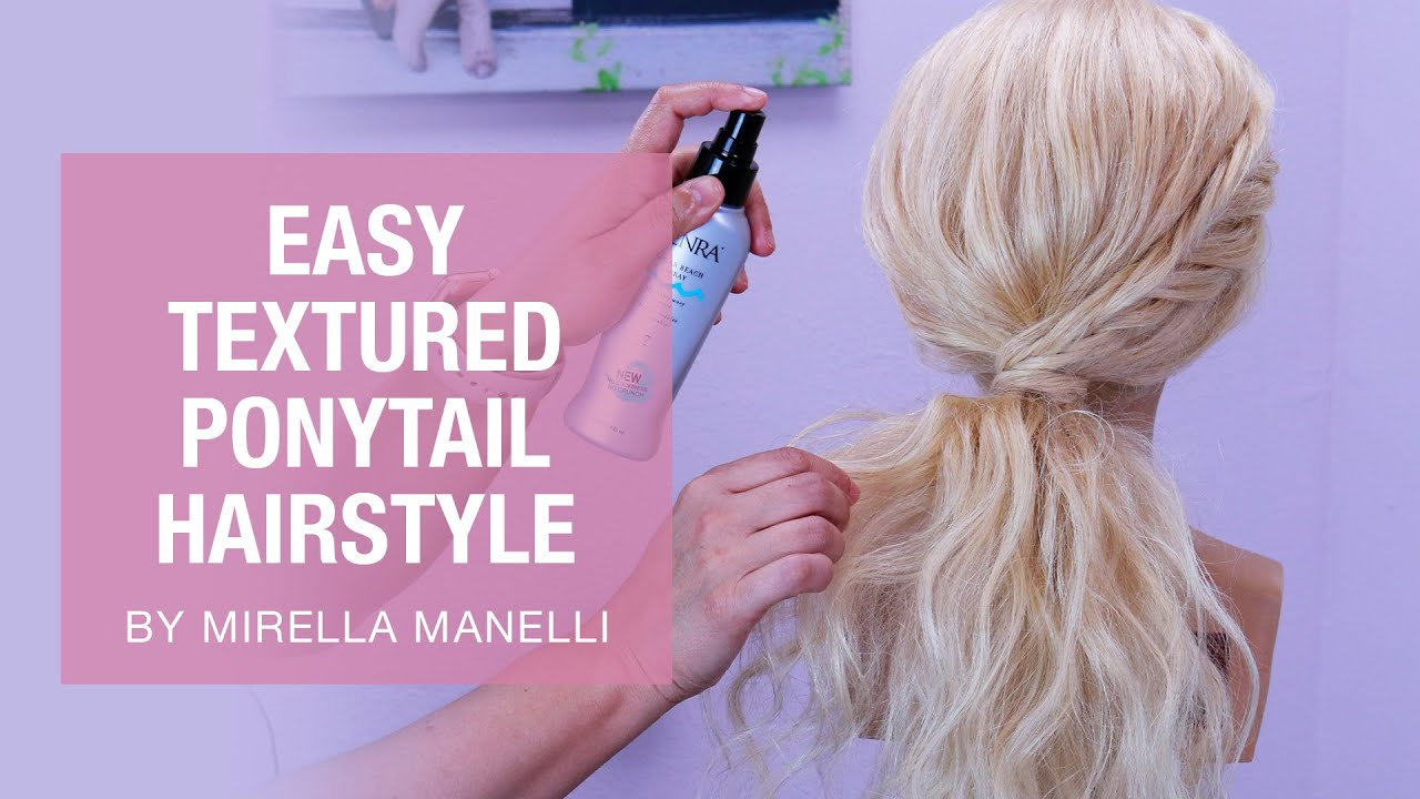 Easy Textured Ponytail Hairstyle by Mirella Manelli | Kenra Professional