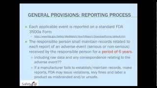 Dietary Supplement Adverse Event Reporting: Avoiding FDA and Health Canada AE Citations - 031413