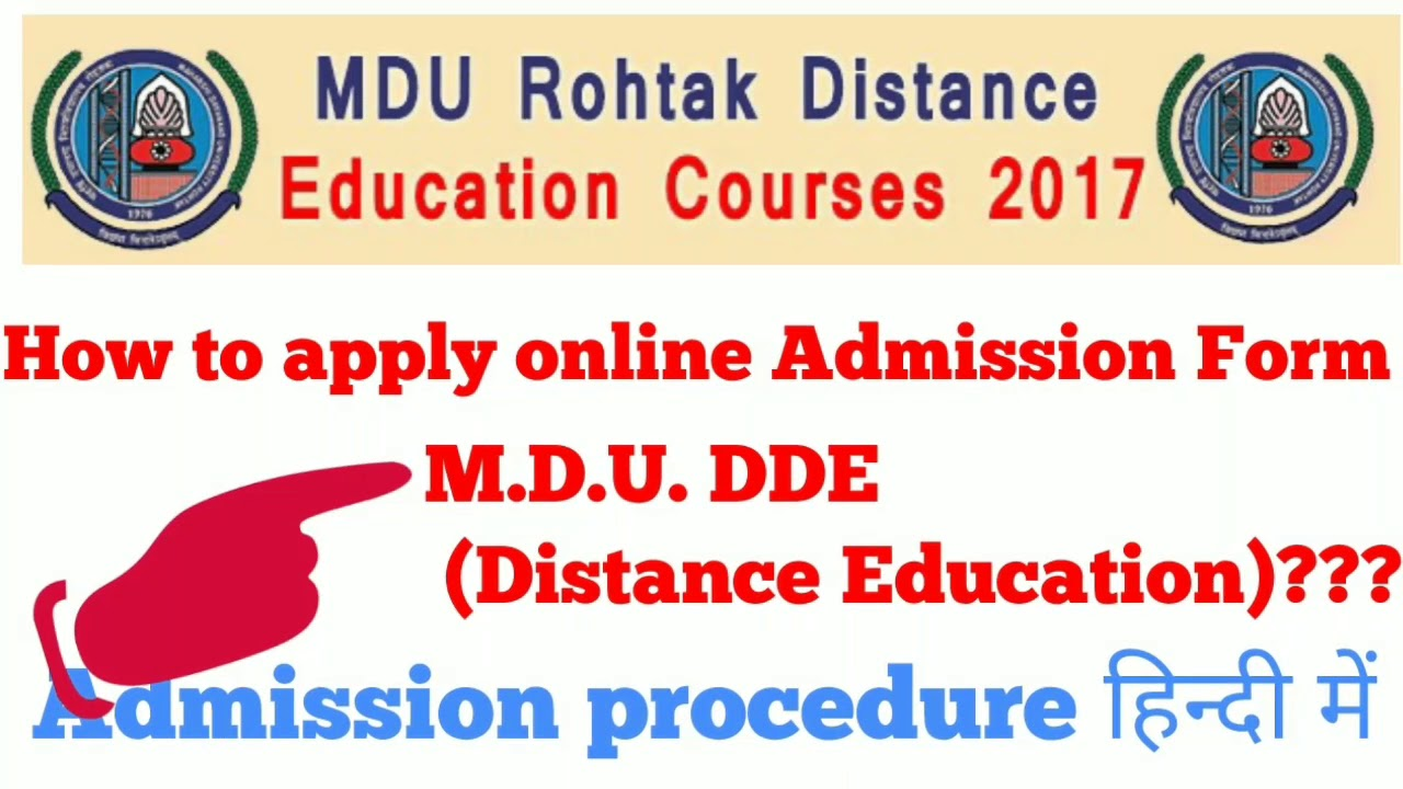 How to apply online Admission in M.D.U. Distance Education