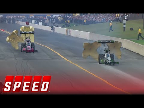 Brittany Force vs. Antron Brown – Reading Top Fuel Final – 2016 NHRA Drag Racing Series