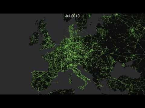 OpenStreetMap Time Lapse of Electricity Grid Edits